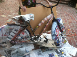 Airbrushed Galaxy Bike in Progress