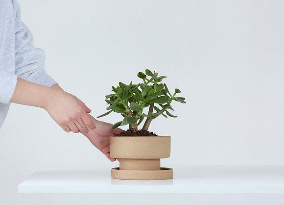 Flower pot - natural