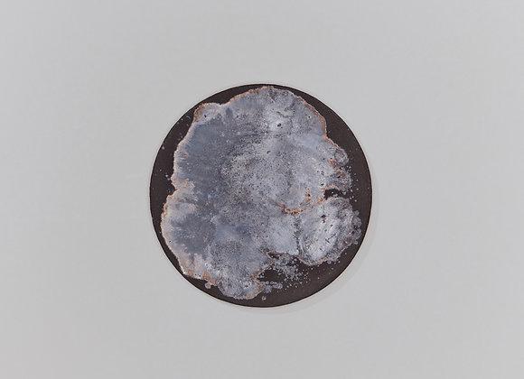 Wabi-sabi plate, golden