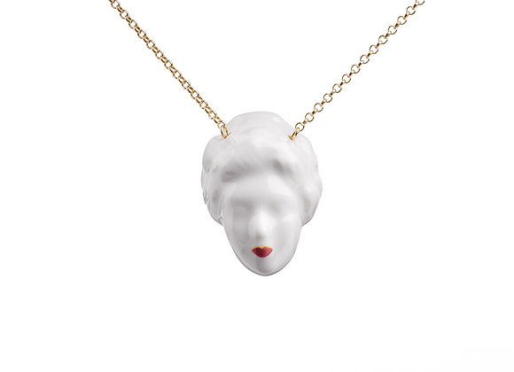 Lady Bitch necklace - red lips