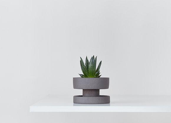 Flower pot - dark chamotte