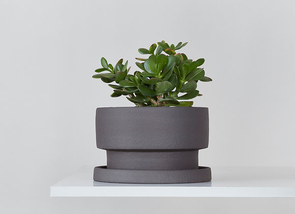 Flower pot - dark chamotte