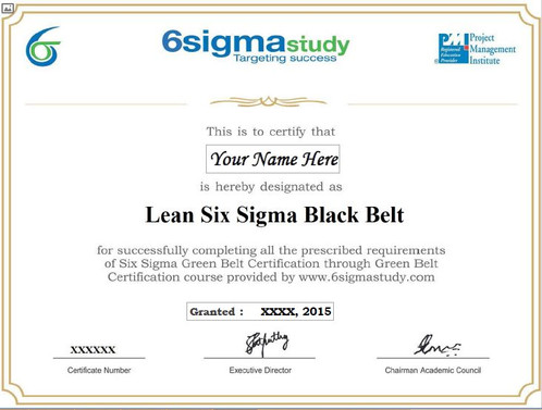 ONLINE Lean Six Sigma Black Belt training and exam
