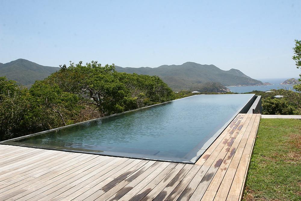 Pool near a Bay