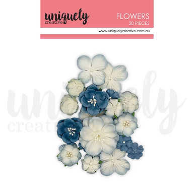 DUSTY BLUE FLOWERS