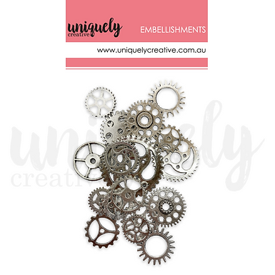 SILVER METAL COGS