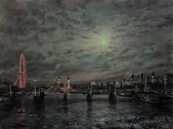 Embankment bridge Nocturne