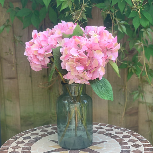 Large Pink Hydrangeas (set of 4)