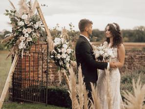 A rustic boho countryside wedding