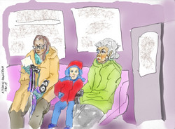 3 Generations On Downtown 'A' Train