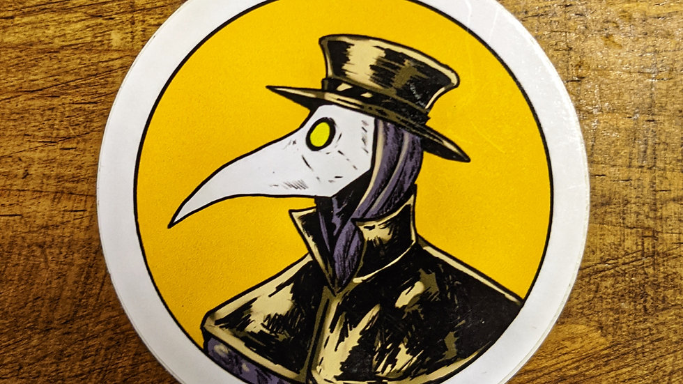 Mr. Pandemic head sticker