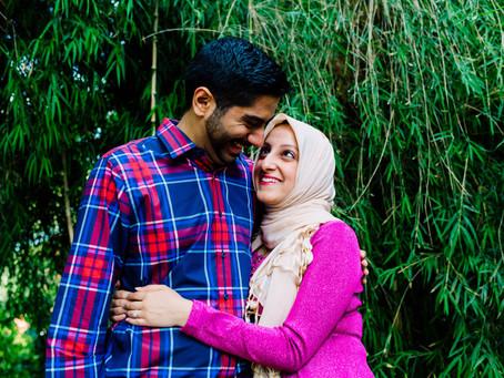 Sarah and Sajjad - Birmingham Botanical Gardens Engagement Shoot