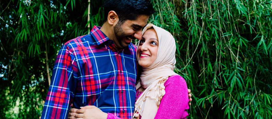 Sarah and Sajjad - Birmingham Botanical Gardens Engagement Shoot