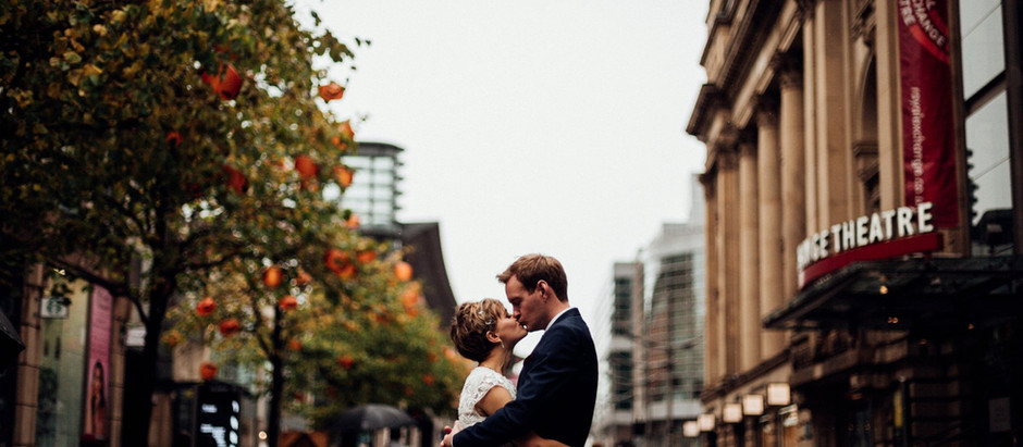 Anna & Sean - royal exchange theatre and the mess cafe - Manchester Wedding Photography