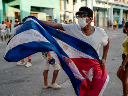 FREE CUBA - Protests in Cuba Calling for Freedom are Biggest in Decades