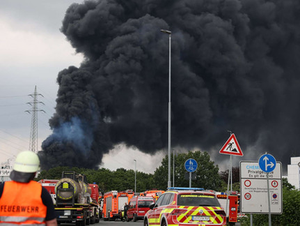 Chemical Plant Explosion in Germany; Billowing Black Smoke Seen for Miles Around Site