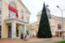 """Новогоднее оформление ТГ """"Гранд Марина"""" в Сочи"""