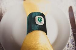 Кольцо для салфетки из бархата