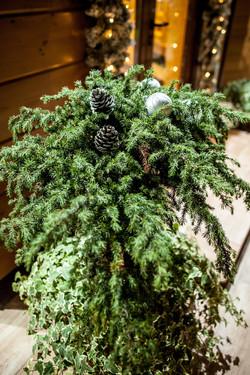 декор живых растений во дворе
