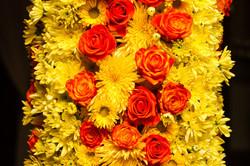 Фрагмент цветочной колонны