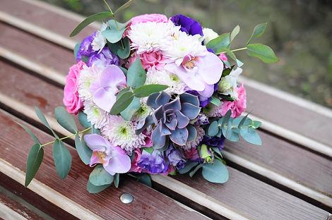 Букет невесты в розово-сиреневой гамме