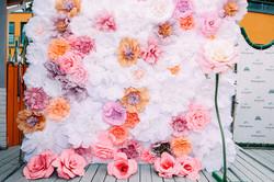 Оформление бумажными цветами Сочи