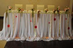 Свадебный стол с фризой