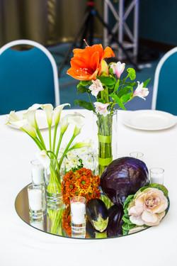Цветы и овощи в оформлении