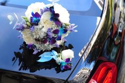 Букет невесты в синих тонах