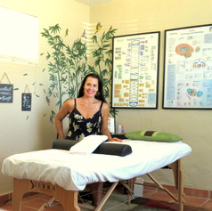 Candice in treatement room
