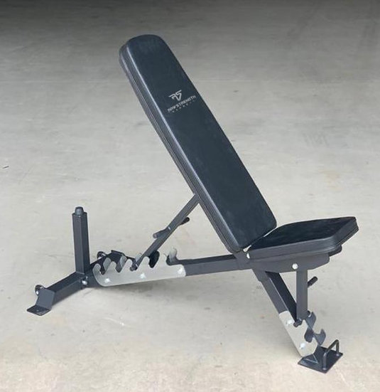 RAW STRENGTH BARBELL HEAVY DUTY SEMI-COMMERCIAL ADJUSTABLE WEIGHT BENCH