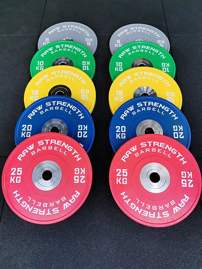 RAW STRENGTH BARBELL 150KG PREMIUM COMPETITION OLYMPIC BUMPER PLATE SET