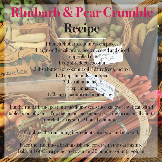 Rhubarb & Pear Crumble