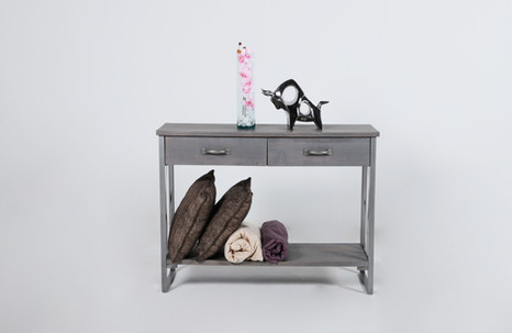 Mesa consola Sofa doble X - silver