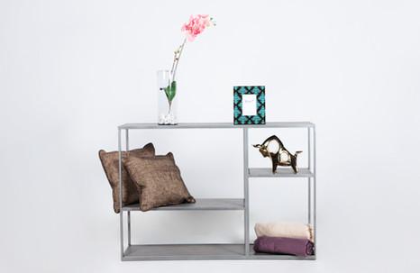 Mesa consola Sofa - silver