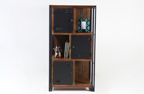Librero con puertas - industrial