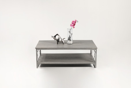 Mesa central doble X - silver