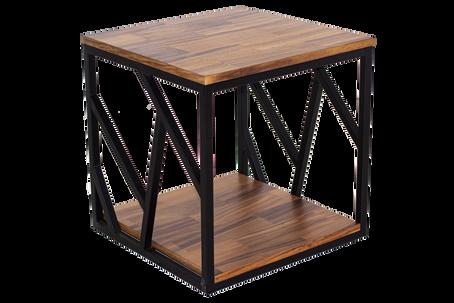 Mesa lateral figuras - chapa natural de