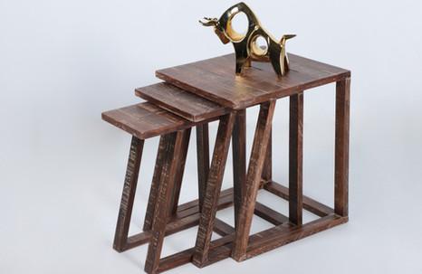 Mesas nido de madera - industrial
