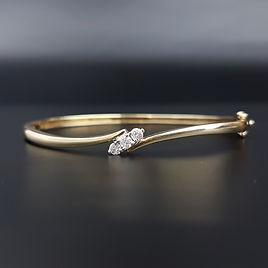 Trilogy Diamonds 9ct Gold Bangle Bracele