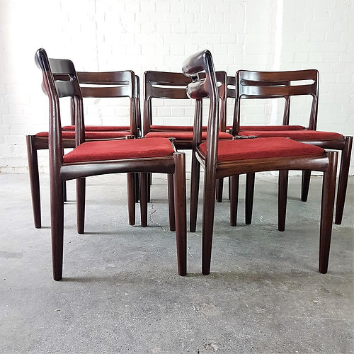 Bramin Rosewood Danish Dining Chairs Set Of 4 By H. W. Klein