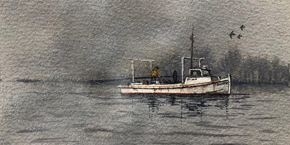 Workboat in the Fog