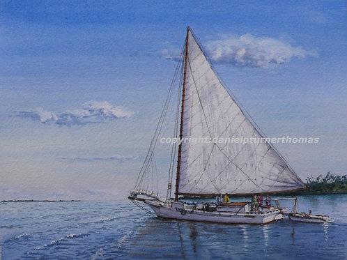 The Thomas Clyde sets sail
