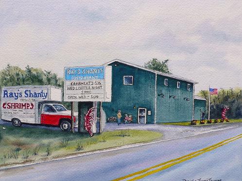 """""""Ray's Shanty"""" Watercolor"""