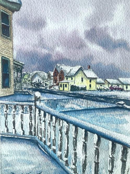 Main Street Snow View