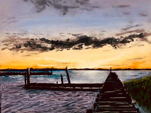 Merritt Harbor Sunset Study