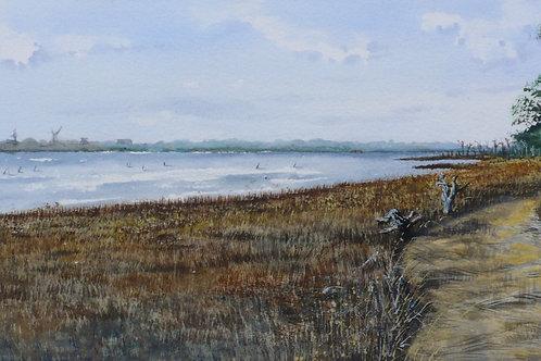 View of Wallops, Plein Air