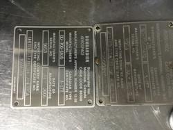 Engraved Plate | AGA Machine Shop