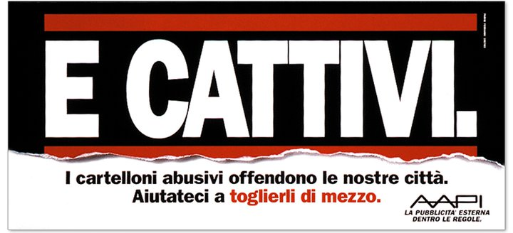campagna contro le affissioni abusiv