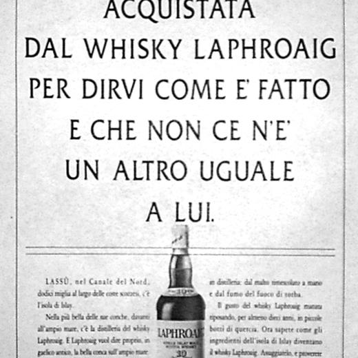 Campagna lancio Italia LAPHROAIGH